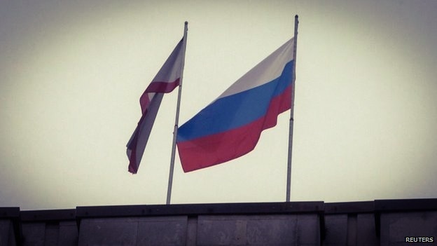 Russian Flag Raised In Crimea