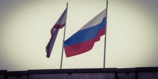 Russian Flag Raised By Armed Troops Over Ukraine's Crimea Parliment