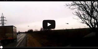 NTEB EXCLUSIVE! First Video Of Russian Helicopters Violating Ukrainian Airspace