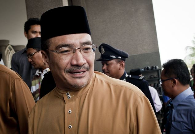 Malaysian Acting Transport Minister Hishammuddin Hussein attended prayers for passengers and crew of missing Malaysia Airlines flight MH370 at a mosque near Kuala Lumpur International Airport Read more: http://www.dailymail.co.uk/news/article-2581488/It-WAS-hijacked-Malaysian-official-says-CONCLUSIVE-jet-carrying-239-hijacked-35-000-ft-individual-group-significant-flying-experience.html#ixzz2w4zp6c7C  Follow us: @MailOnline on Twitter | DailyMail on Facebook
