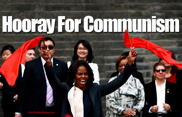 michelle-obama-waves-communist-flag-china