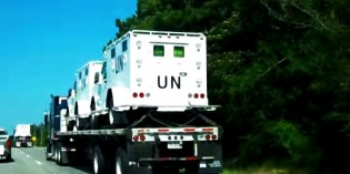UN Armored Vehicles Spotted In Georgia On June 15th (VIDEO)