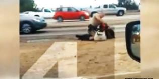 Shock Video Shows California Highway Patrolman Mercilessly Beating Unarmed Woman