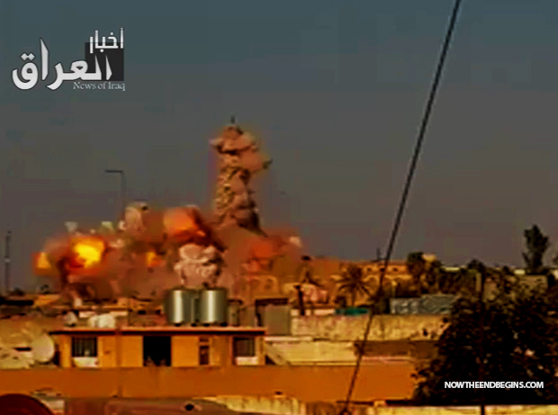 Isis blows up the tomb of the biblical prophet jonah in iraq video