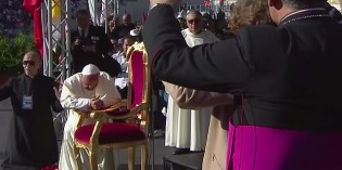 Pope Francis Prayed Over By 50,000 Charismatics Speaking In Tongues (VIDEO)