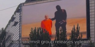 China Playing Foley Beheading On Giant Outdoor TV To Warn It's People About ISIS (VIDEO)