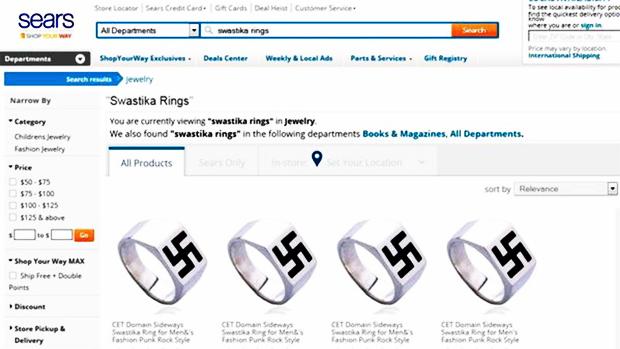 venta al por menor-gigantes-sears-quita-nazi-rings-for-sale-de-sitio web-el antisemitismo-hitler