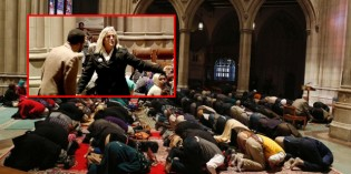 Brave Christian Woman Protests Washington Cathedral's First Muslim Prayer Service (VIDEO)