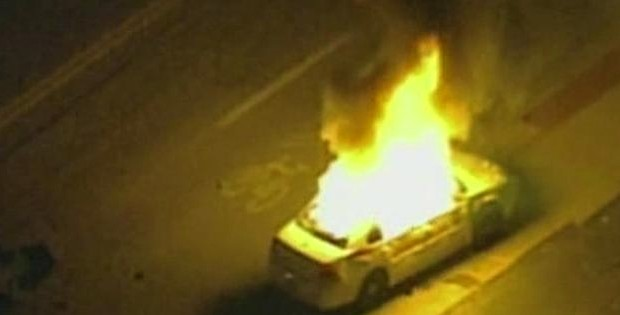Obama Says 'Reaction Understandable' As Ferguson Rioters Set Police Cars On Fire