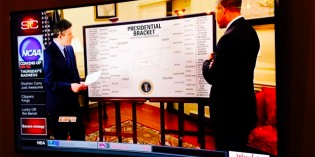 Obama Devotes Quality Time To Picking NCAA March Madness Tournament Brackets