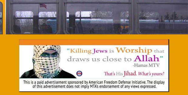 Federal Judge Orders NY Transit Authority To Display 'Hamas Killing Jews' Ad On Buses