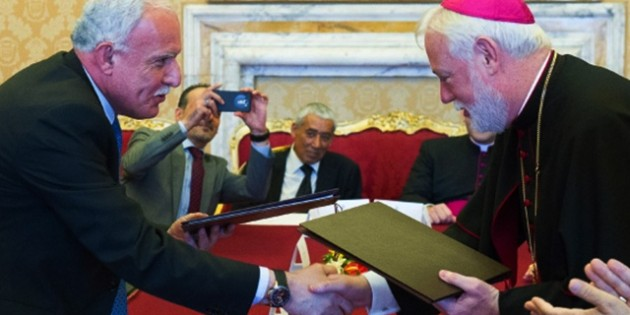 In Stunning Move, The Vatican Signs Treaty Today With The State Of Palestine