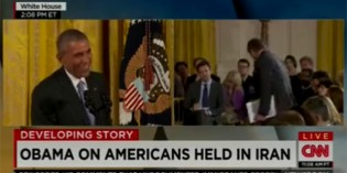 Watch Obama Smirk And Laugh When CBS Major Garret Asks About 4 Americans In Iranian Prison