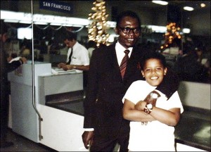 Ten year-old Obama with his father Barack Obama Sr. This is the first and last time Obama would see his father