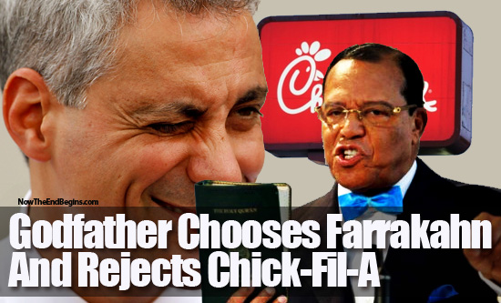 chicago godfather rahm emanuel welcomes farrakahn rejects chick fil a Amazing cam whoring of the delightful young bbw (6 photos)