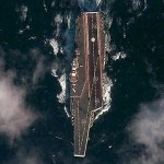 This satellite image provided by the the DigitalGlobe Analysis Center shows the Chinese aircraft carrier Shi Lang (Varyag) sailing in the Yellow Sea. The picture was acquired Dec. 8 by DigitalGlobe's QuickBird satellite.