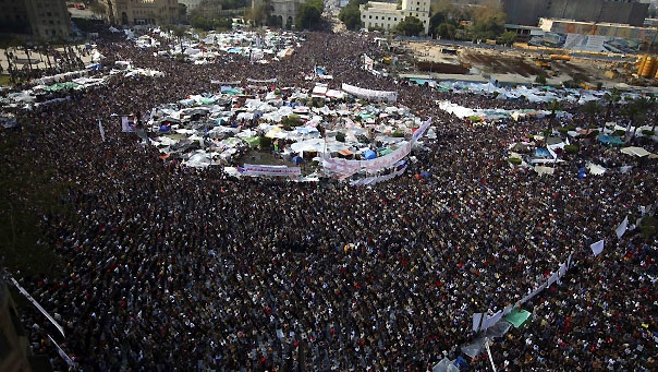 demonstration in Tahrir Square in downtown Cairo, Egypt, Friday.