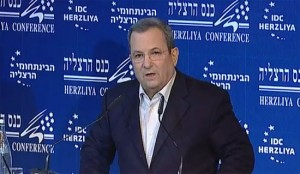 Speaking at the Herzliya Conference, Defense Minister Ehud Barak said there was a consensus among many nations today that if diplomacy and sanctions failed to stop Iran, a military strike should be launched.