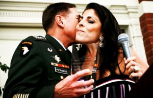 Gen. David Petraeus with the Arab Nations' Agent of Influence at Central Command, Jill Kelley