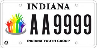 Indiana Unveils Its First License Plate For Gay Youths