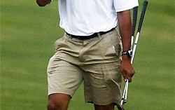 Obama Goes Golfing on Memorial Day