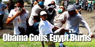 The Nile River Runs Red As Obama Golfs In Martha's Vineyard