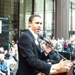 Obama at anti-war protest, 2002 (Source: Verum Serum)