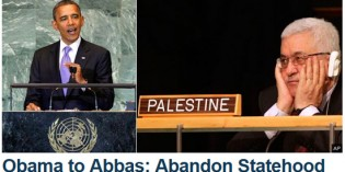 Obama Tells Abbas To  'Abandon Statehood'