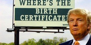 Donald Trump Is Now A Birther