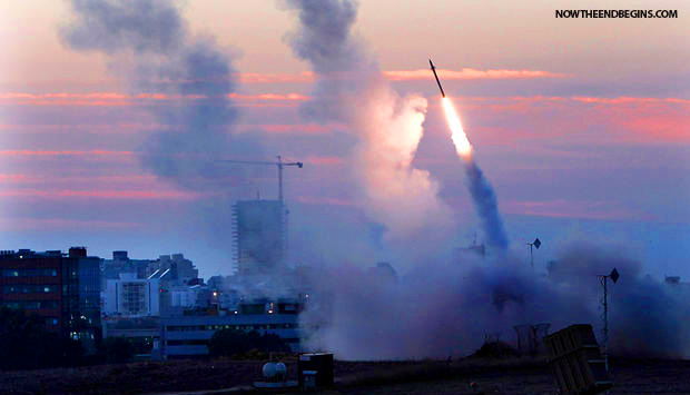 israel-iron-dome-intercepts-grad-rocket-hamas-fired-over-tel-aviv