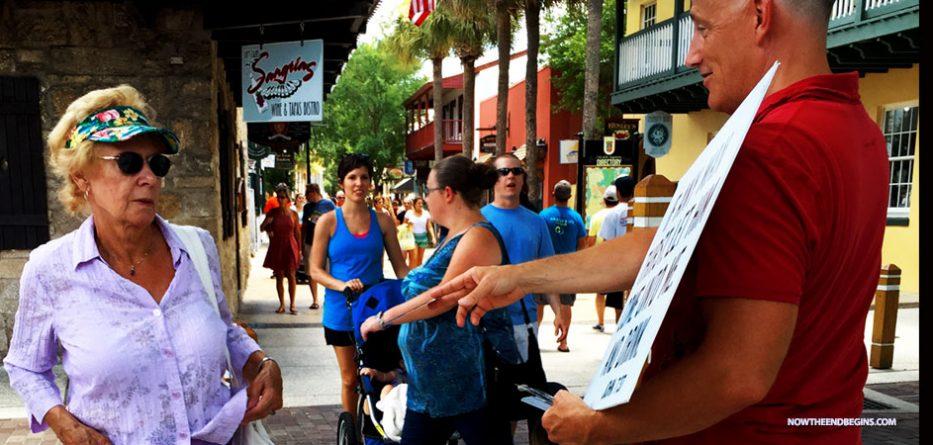 street-preaching-preacher-highways-byways-gospel-saint-george-street-augustine-florida-bible-believers-king-james-nteb