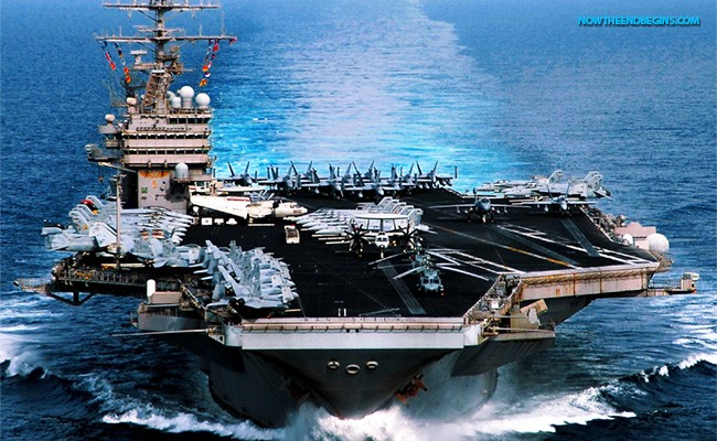 The Uss Abraham Lincoln A Nimitz Cl Aircraft Carrier Is Seen