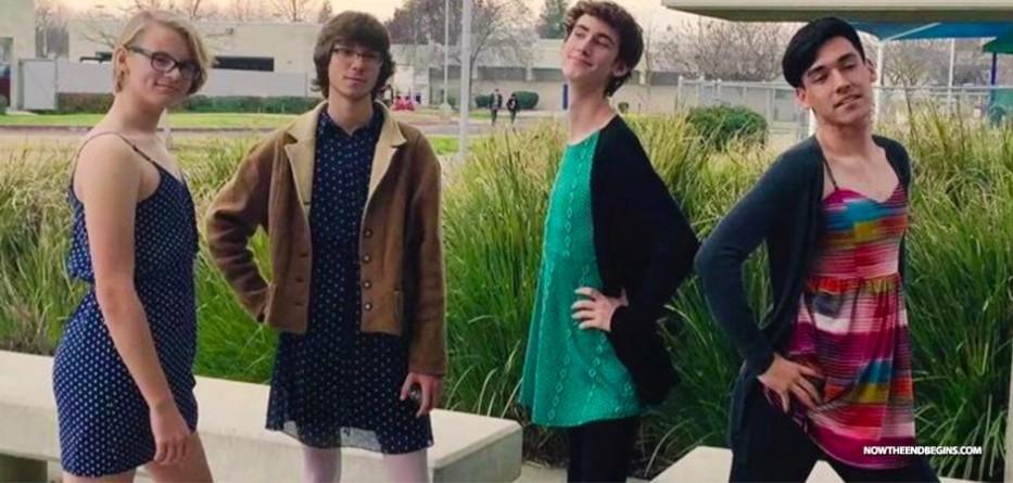 Cross-Dressing Boys Protest Buchanan High School's 'Sexist