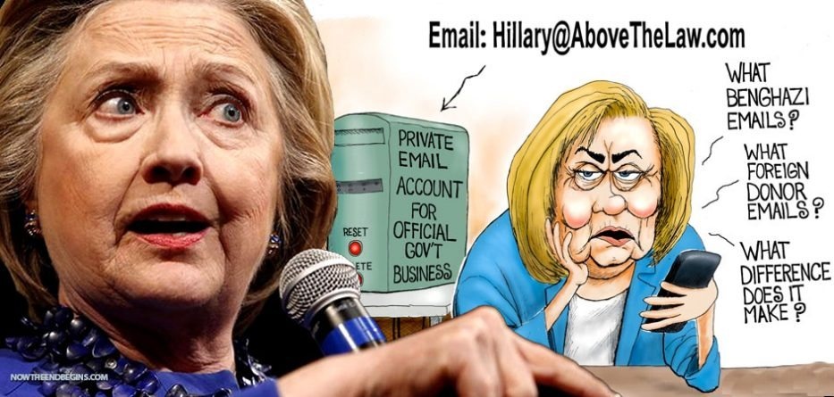 hillary-clinton-illegal-email-server-doj-allowed-laptops-destroyed