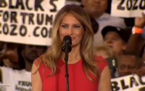 melania-trump-lords-prayer-democrats-attack-florida-rally