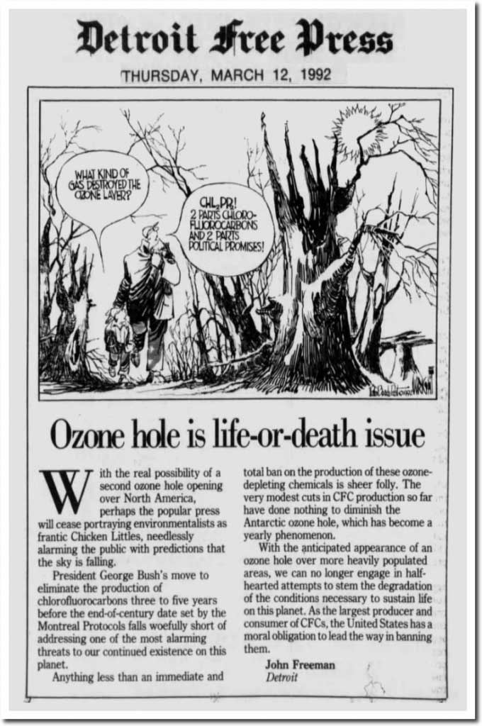 It's Been 25 Years Since The Alarmist Left Fooled Us Into Thinking The 'Ozone Hole' Hoax Would Kill Us All