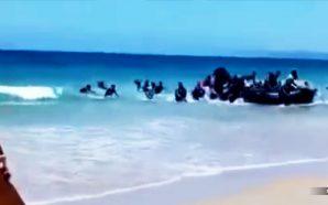 boatload-muslim-migrants-land-beach-spain-illegals-nteb