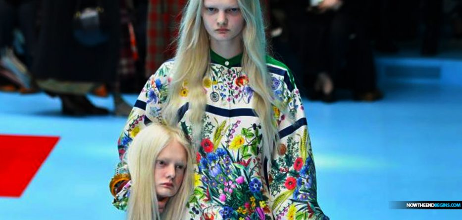 gucci-fashion-week-cyborg-models-severed-heads-feminist-manifesto