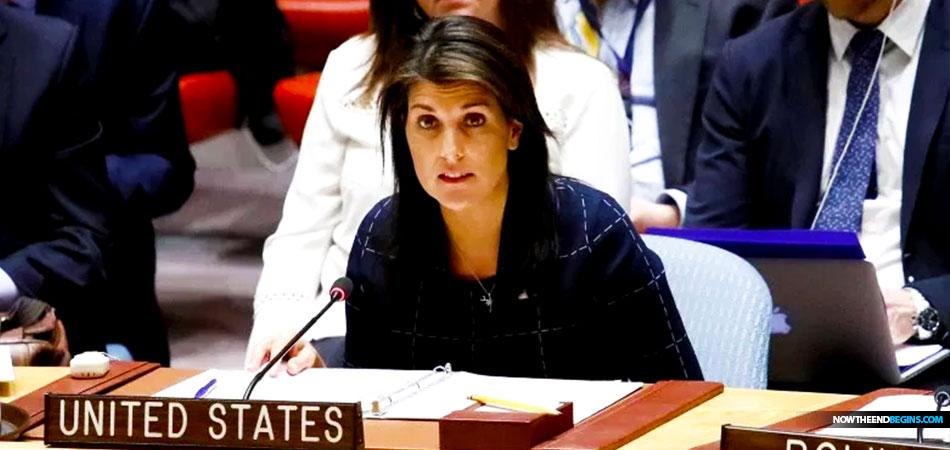UN Ambassador Nikki Haley Announces The United States ...