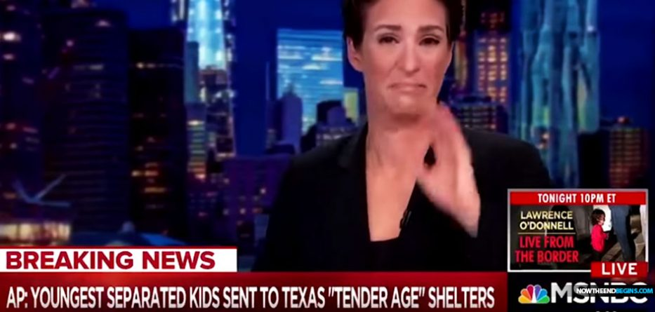 rachel-maddow-cried-crocodile-tears-tender-age-illegal-immigrant-shelters-donald-trump