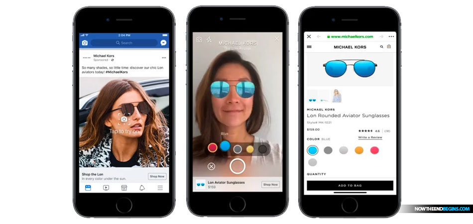 facebook-augmented-reality-facial-recognition-ar-shopping-michael-kors-mark-of-the-beast