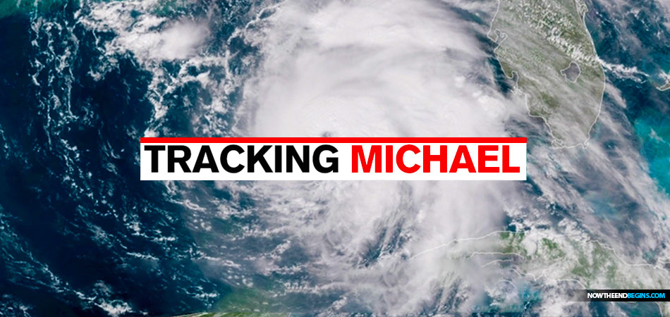 hurricane michael at category 4 stage as it prepares to. Black Bedroom Furniture Sets. Home Design Ideas