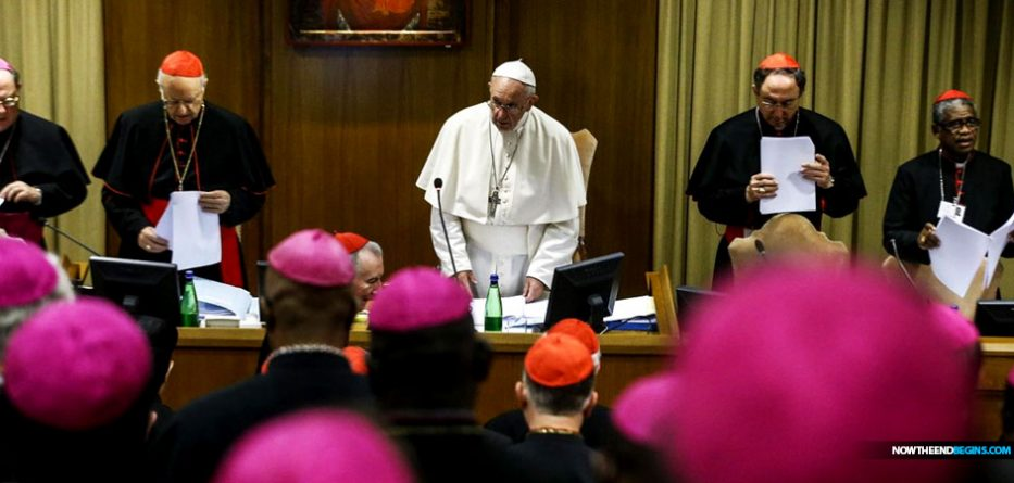 pope-francis-bishop-synod-2018-protect-our-mother-catholic-priest-sexual-abuse-vatican-whore-revelation-17