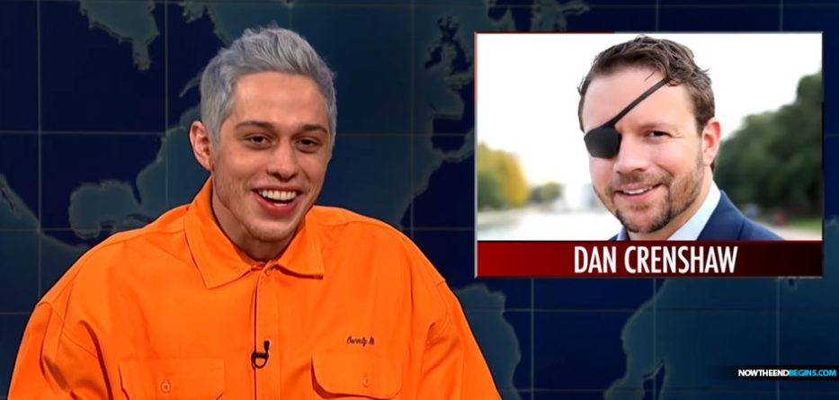 pete-davidson-saturday-night-live-mocks-texas-republican-candidate-navy-seal-dan-crenshaw-lost-eye-liberals-democrats-red-wave
