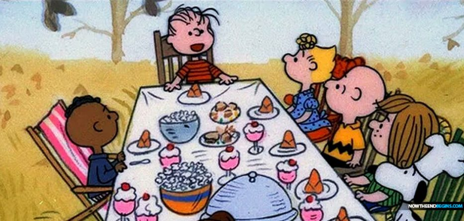 racist-charlie-brown-thanksgiving-franklin-sits-by-himself-but-so-does-linus-liberalism-mental-disorder-racism-race-card
