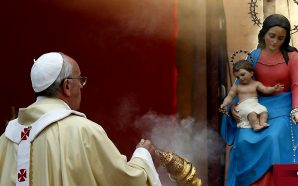 pope-francis-jorge-bergoglio-solemnity-of-mary-worship-not-optional-catholic-church-pagan-idol-worship