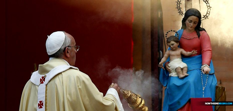 Pope Francis Declares In Mass On Tuesday That Worshipping Mary Is