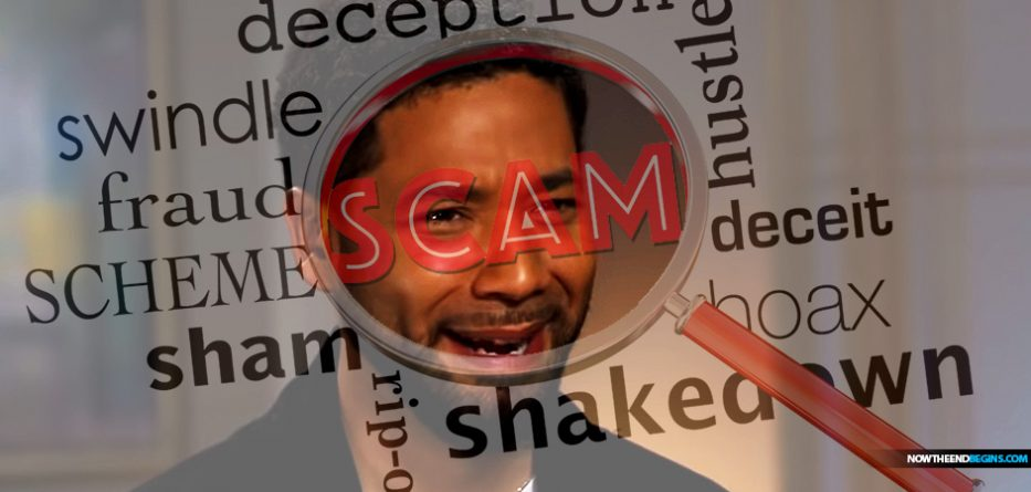 Hoaxster Update - Jussie Smollett in Custody  Jussie-smollett-anti-trump-maga-hoax-exposed-liberalism-is-a-mental-disorder-fake-news-media-snopes-933x445
