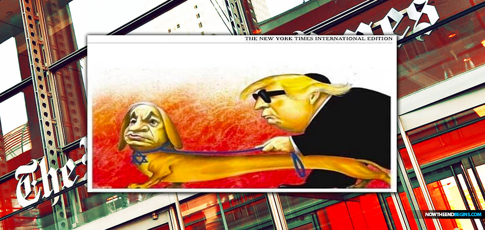 new-york-times-international-publishes-anti-semitic-cartoon-trump-netanyahu-israel-george-soros