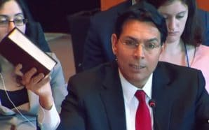A video of Ambassador Danny Danon holding the Bible and asserting the Jewish people's right to Israel has been translated into multiple languages including Turkish.
